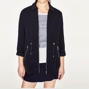 Zara safari navy color jacket